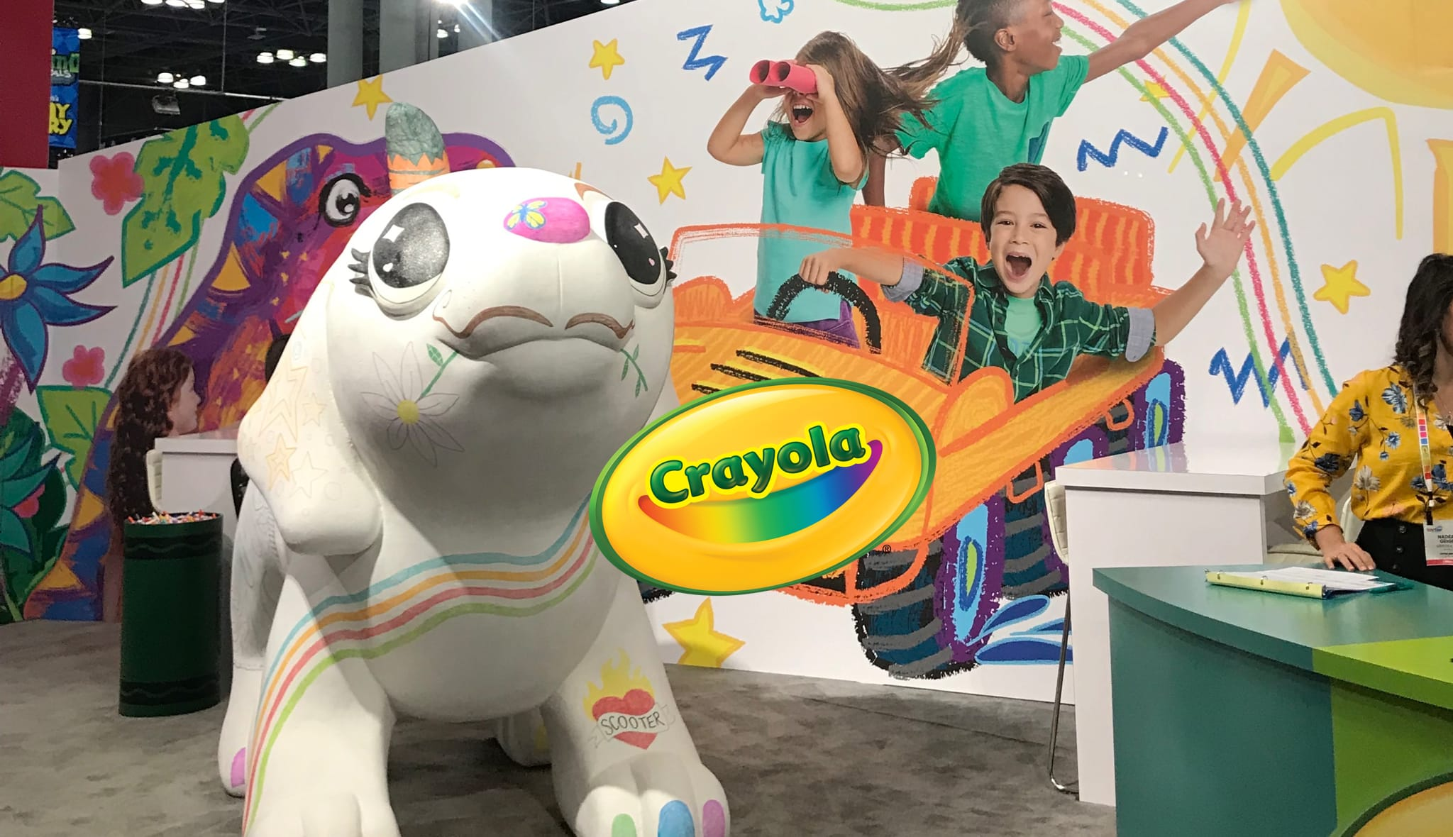 CRAYOLA NEW YORK TOY FAIR BOOTH